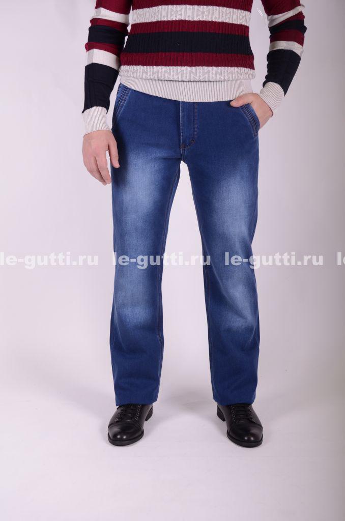 Синие утепленные джинсы на флисе оптом