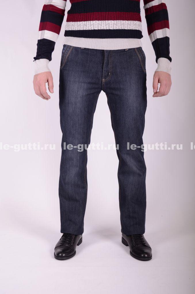 Серые утепленные джинсы на флисе оптом